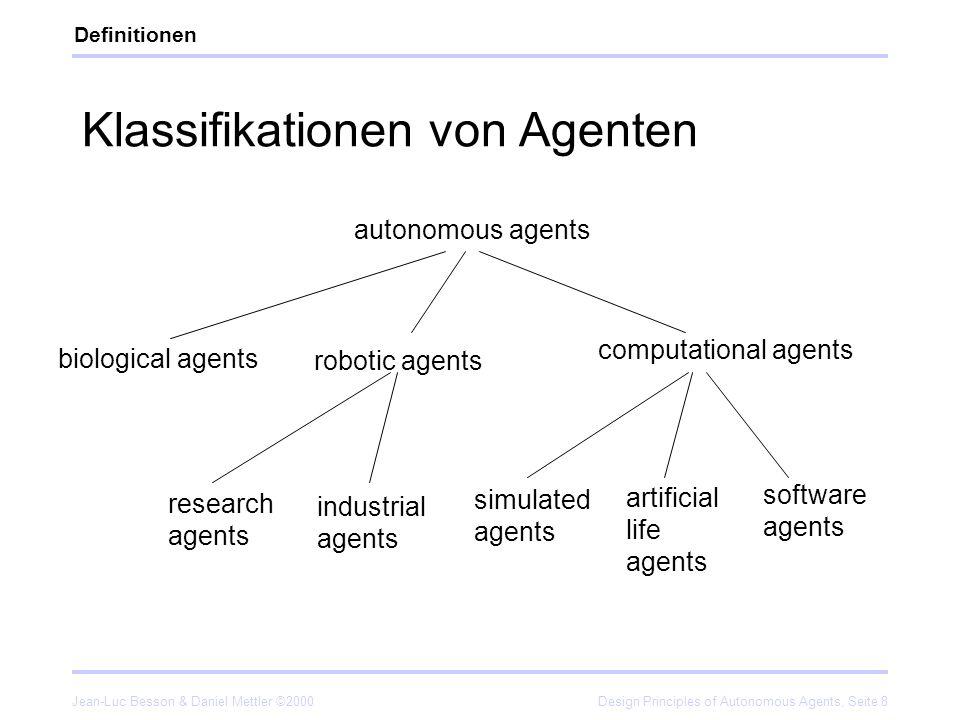 Klassifikationen von Agenten
