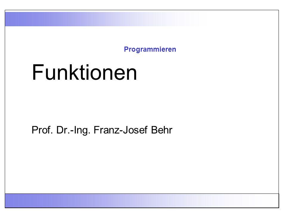 Prof. Dr.-Ing. Franz-Josef Behr