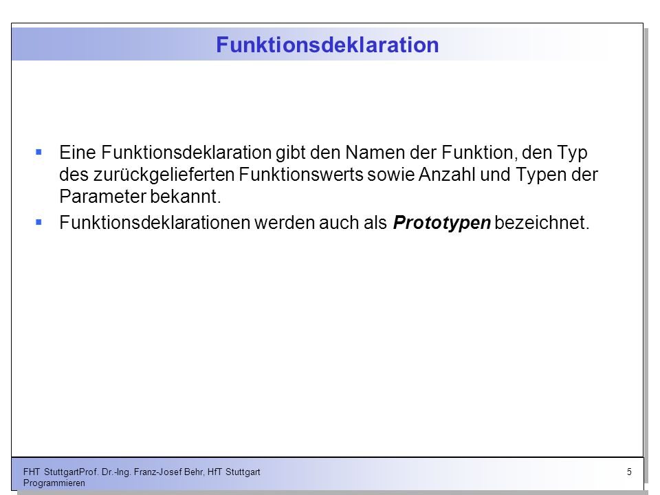 Funktionsdeklaration