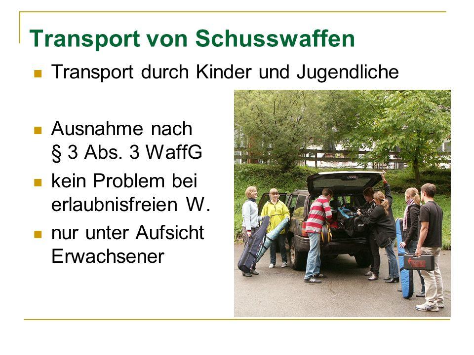 Transport von Schusswaffen
