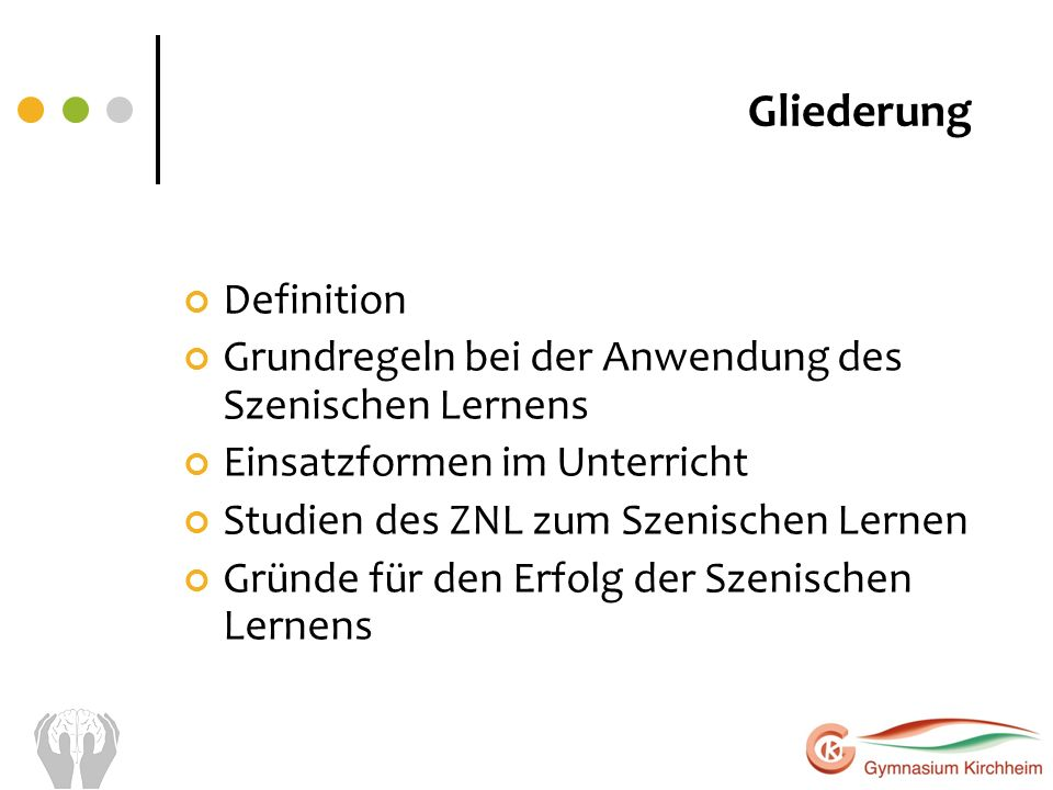 Gliederung Definition