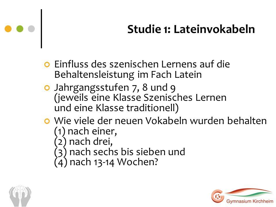 Studie 1: Lateinvokabeln