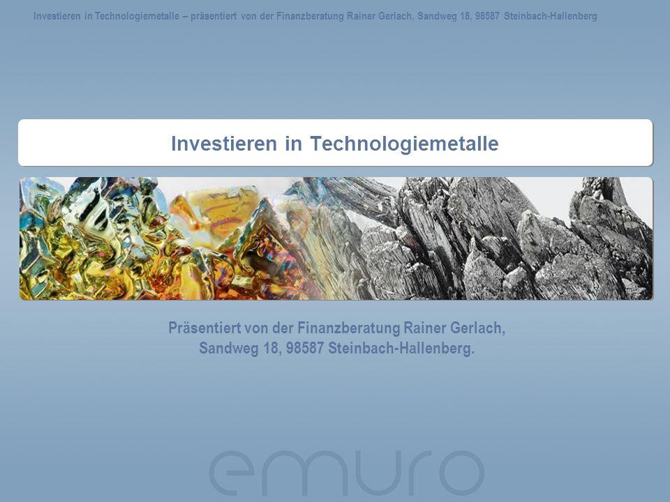 Investieren in Technologiemetalle