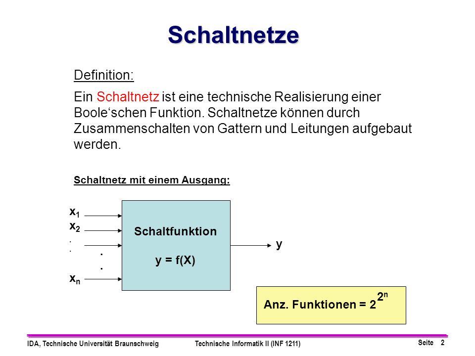 Schaltnetze Definition: