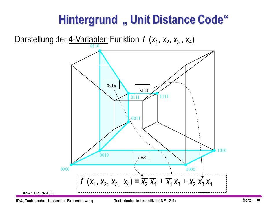 """Hintergrund """" Unit Distance Code"""