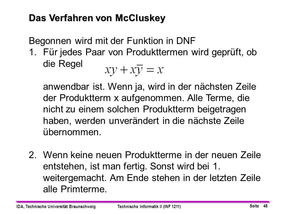 Das Verfahren von McCluskey