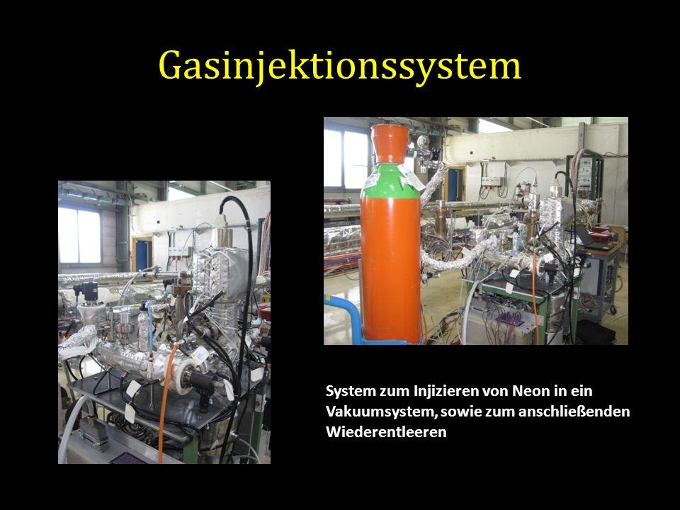 Gasinjektionssystem System zum Injizieren von Neon in ein Vakuumsystem, sowie zum anschließenden Wiederentleeren.
