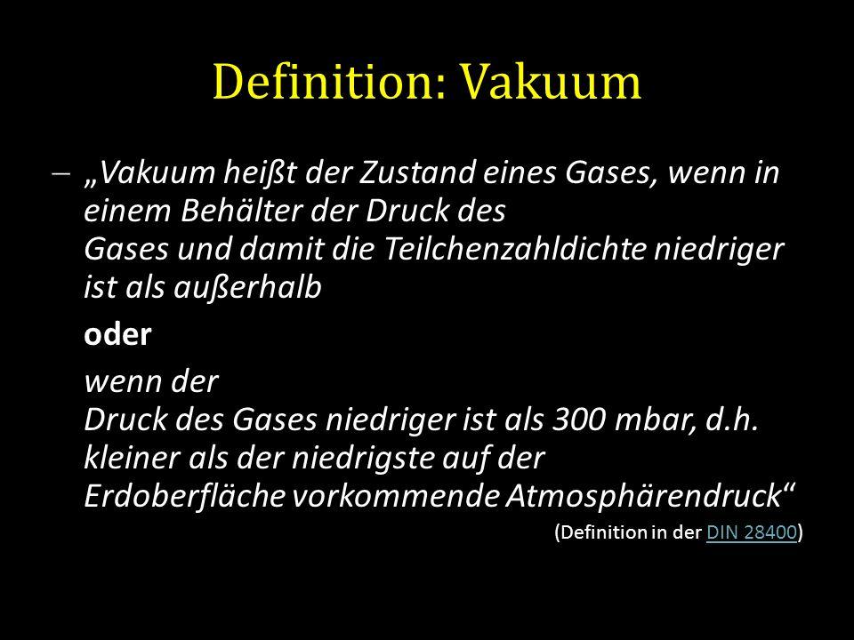 Definition: Vakuum