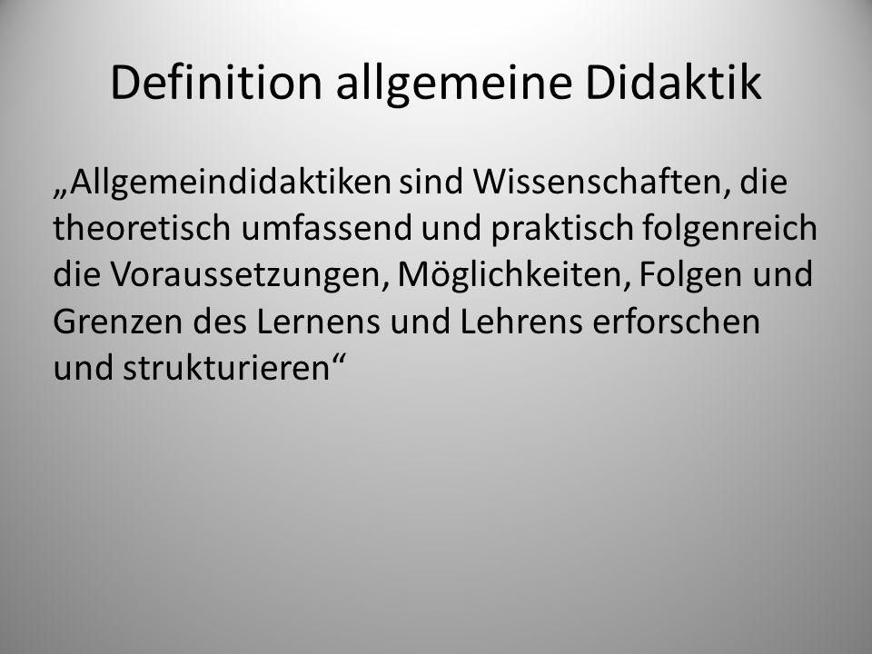 Definition allgemeine Didaktik