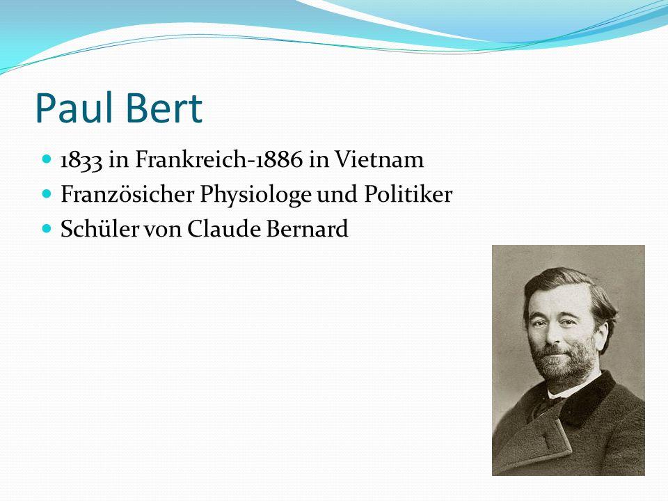 Paul Bert 1833 in Frankreich-1886 in Vietnam