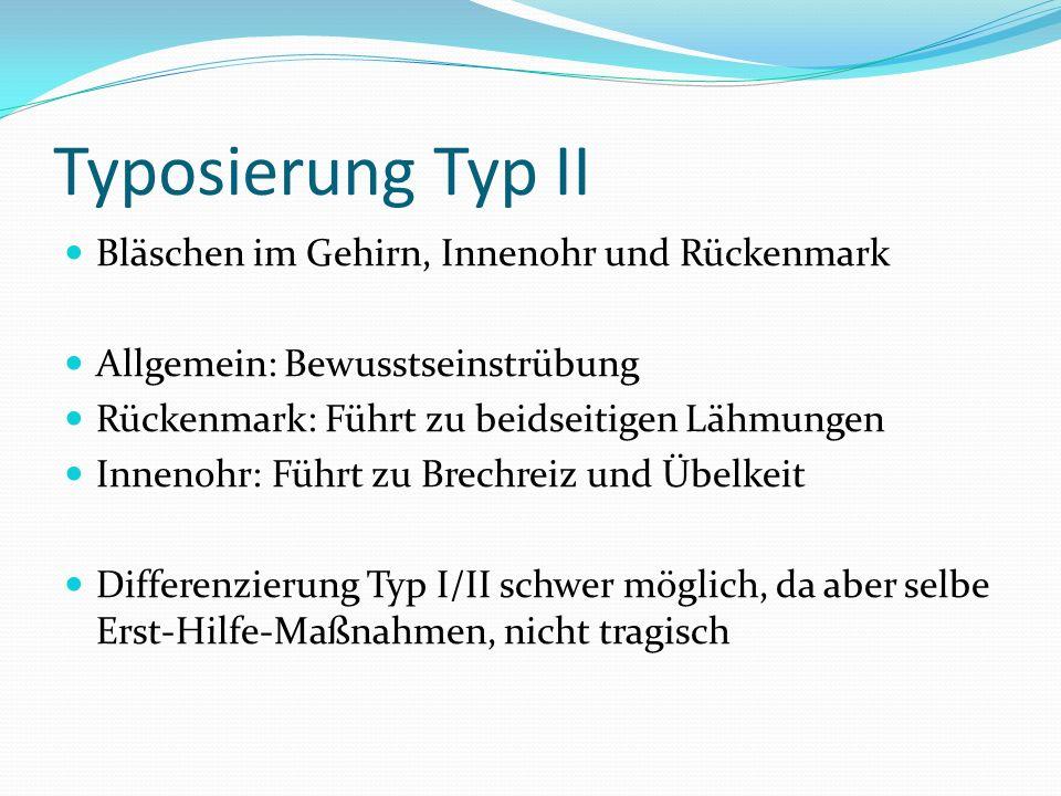 Typosierung Typ II Bläschen im Gehirn, Innenohr und Rückenmark