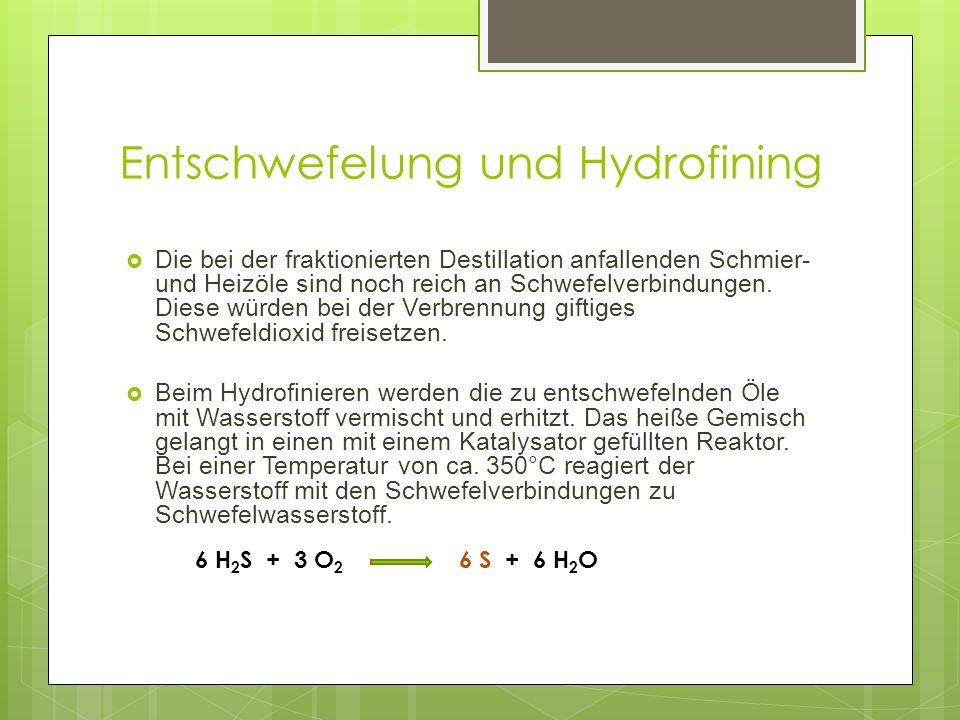 Entschwefelung und Hydrofining
