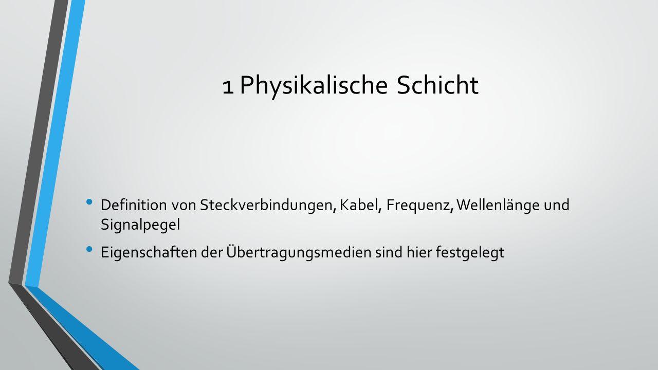 1 Physikalische Schicht