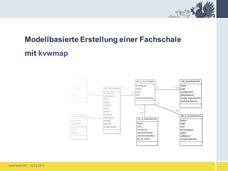 Modellbasierte Erstellung einer Fachschale mit kvwmap