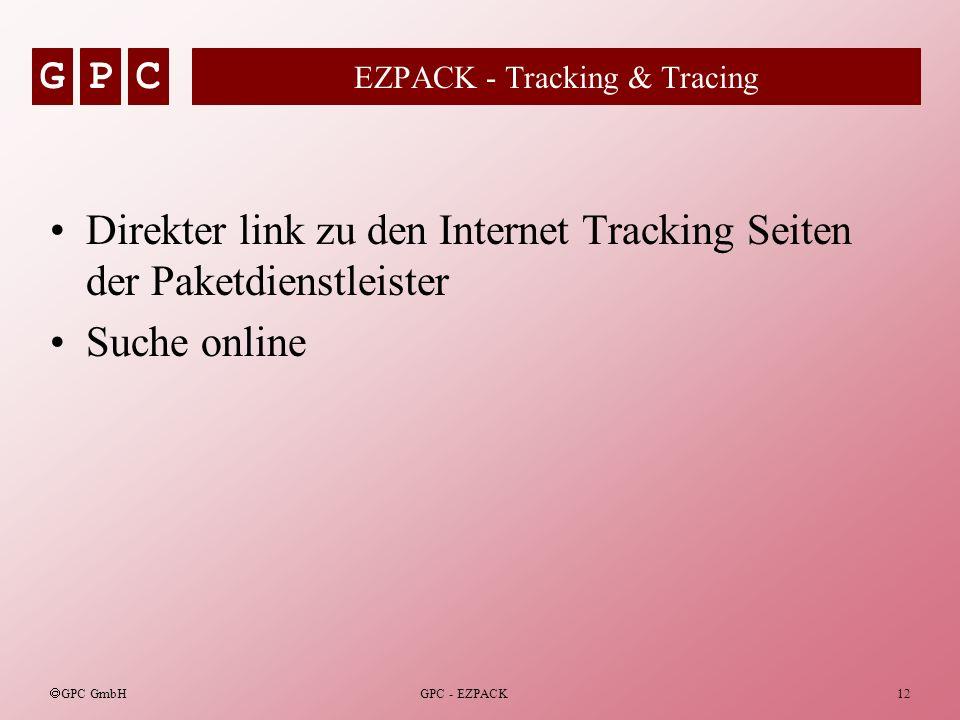 EZPACK - Tracking & Tracing