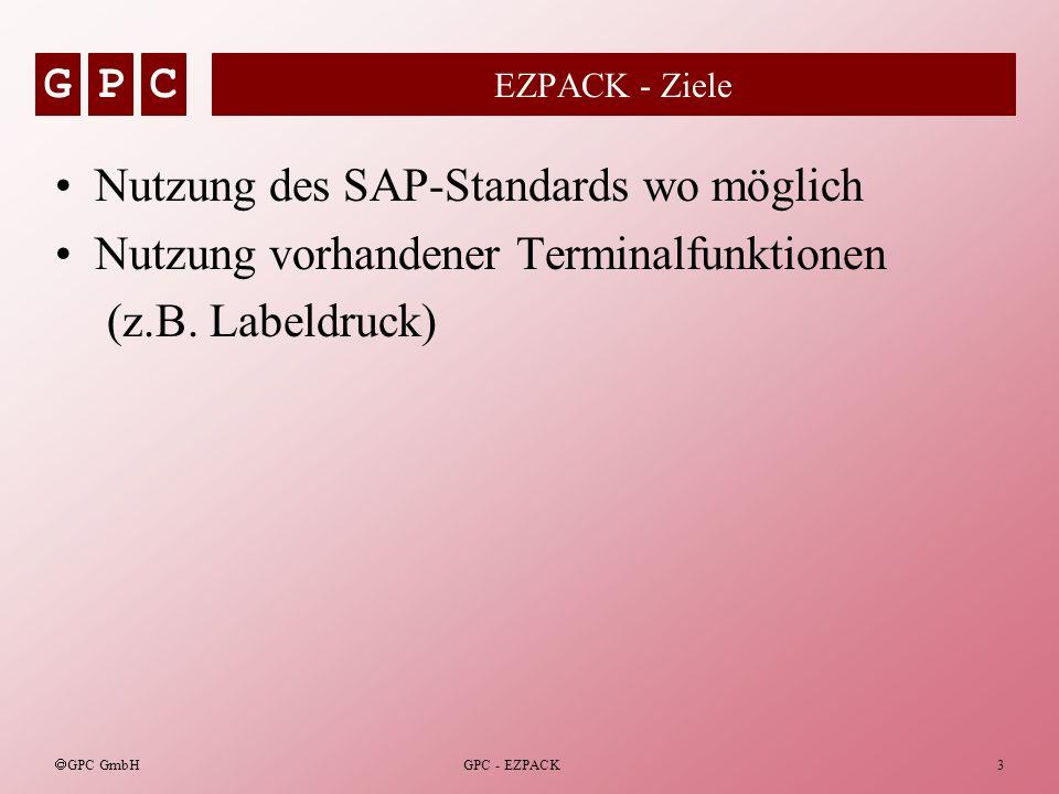 Nutzung des SAP-Standards wo möglich