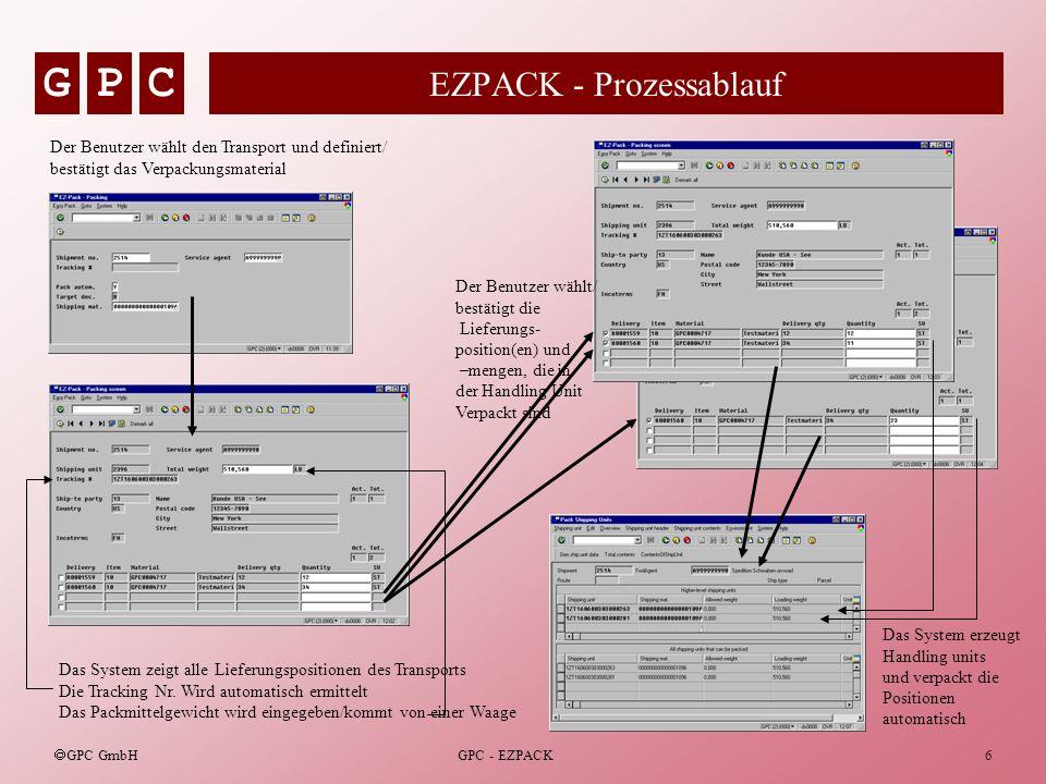 EZPACK - Prozessablauf