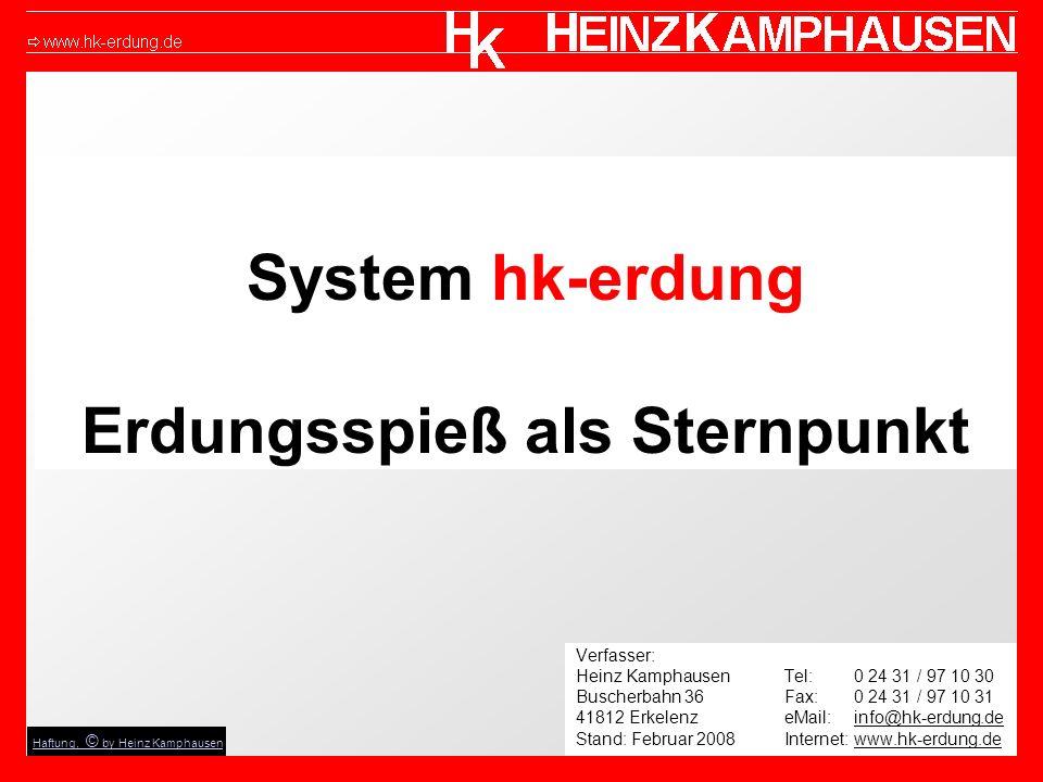System hk-erdung Erdungsspieß als Sternpunkt