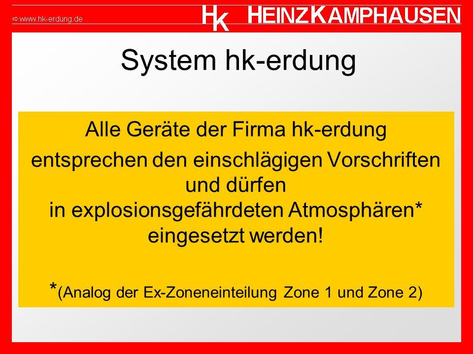 System hk-erdung Alle Geräte der Firma hk-erdung
