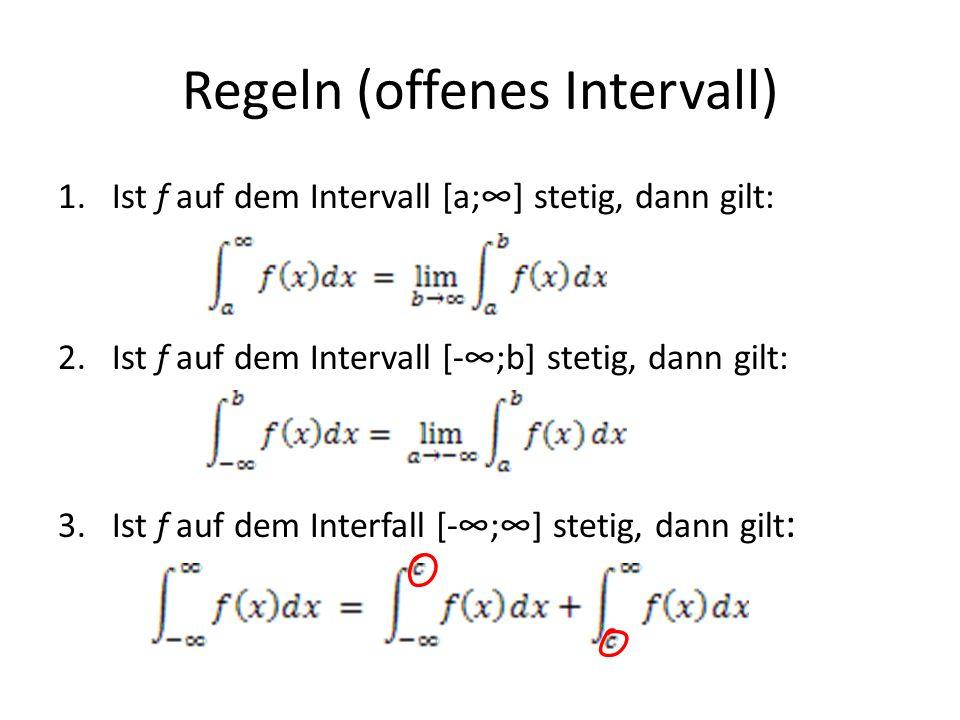Regeln (offenes Intervall)