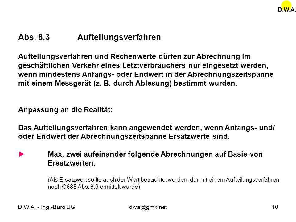Abs. 8.3 Aufteilungsverfahren