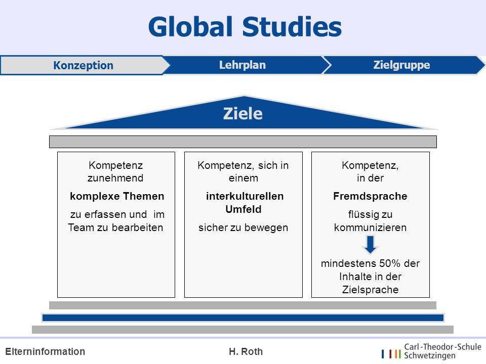 Global Studies Ziele Konzeption Lehrplan Zielgruppe