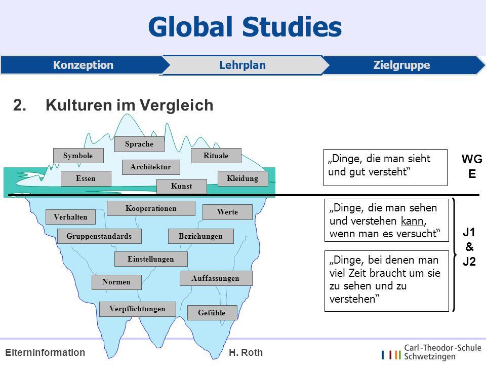 Global Studies 2. Kulturen im Vergleich WG E J1 & J2 Konzeption
