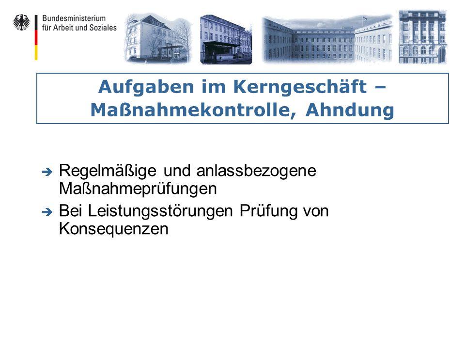 Aufgaben im Kerngeschäft – Maßnahmekontrolle, Ahndung