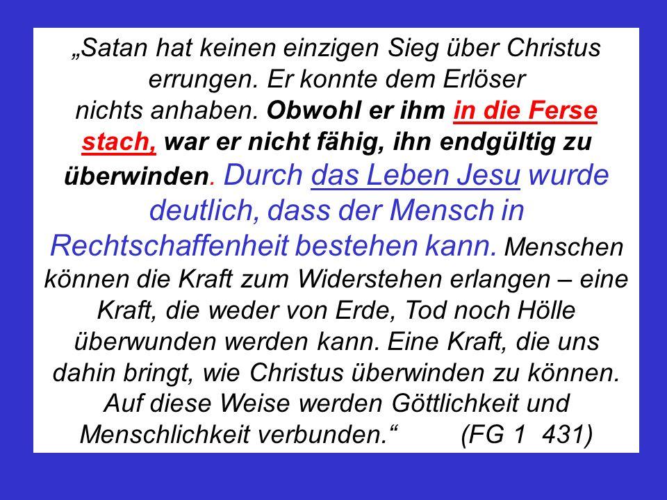 """""""Satan hat keinen einzigen Sieg über Christus errungen"""