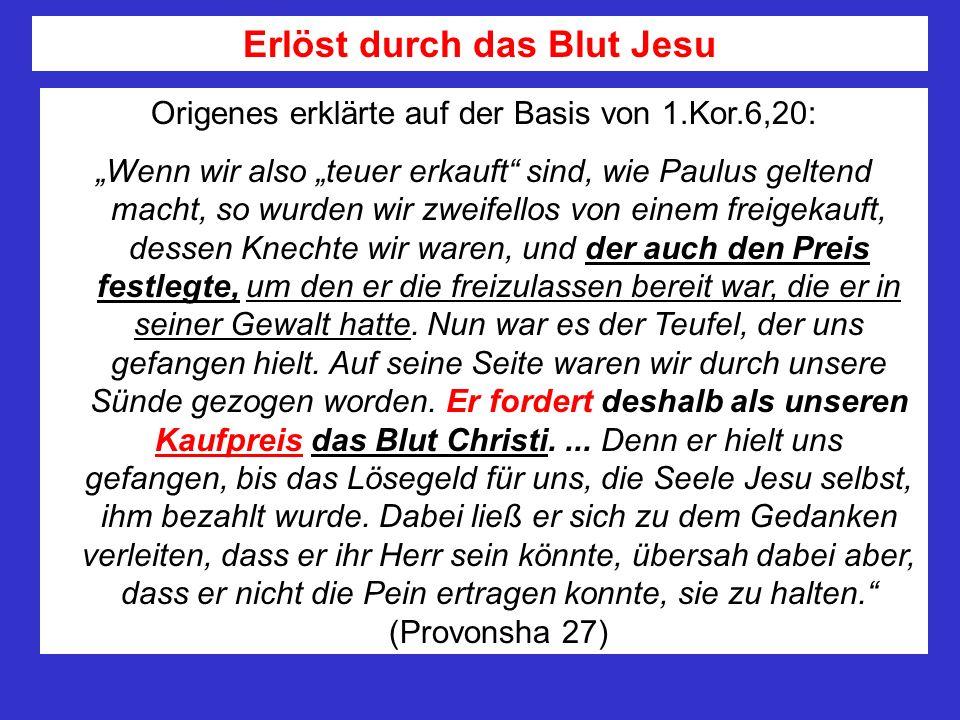 Erlöst durch das Blut Jesu