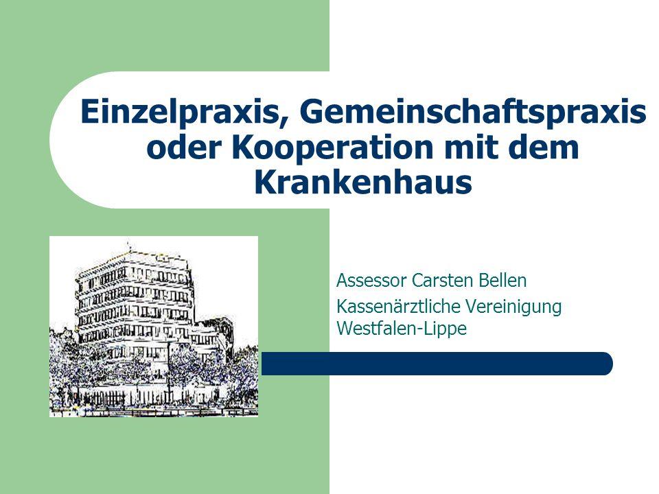Einzelpraxis, Gemeinschaftspraxis oder Kooperation mit dem Krankenhaus