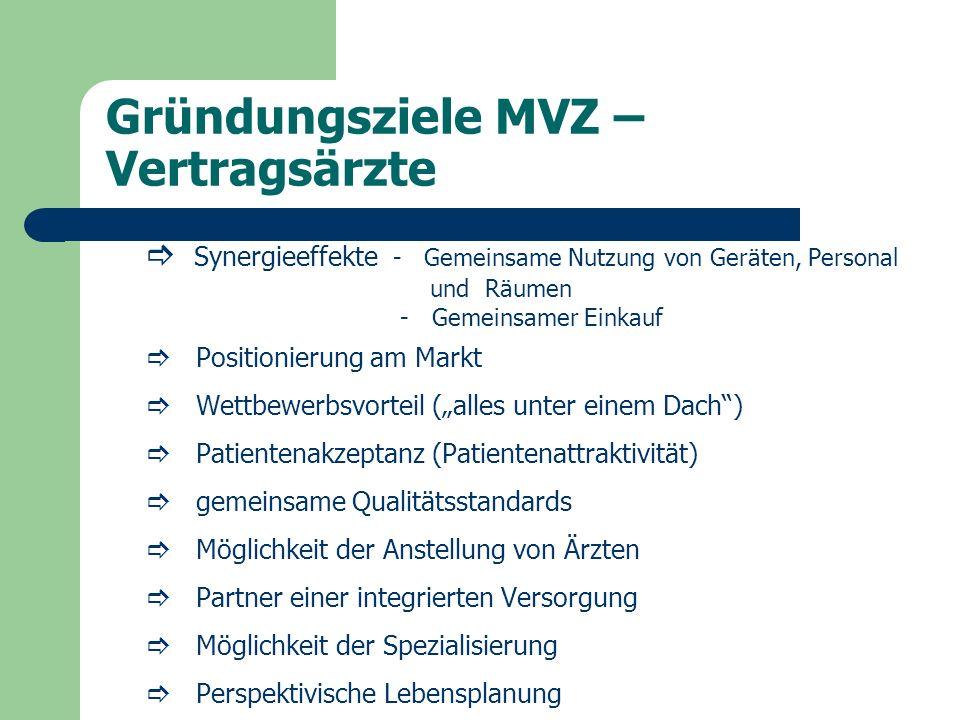 Gründungsziele MVZ – Vertragsärzte