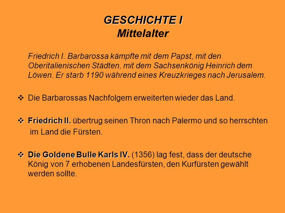 GESCHICHTE I Mittelalter
