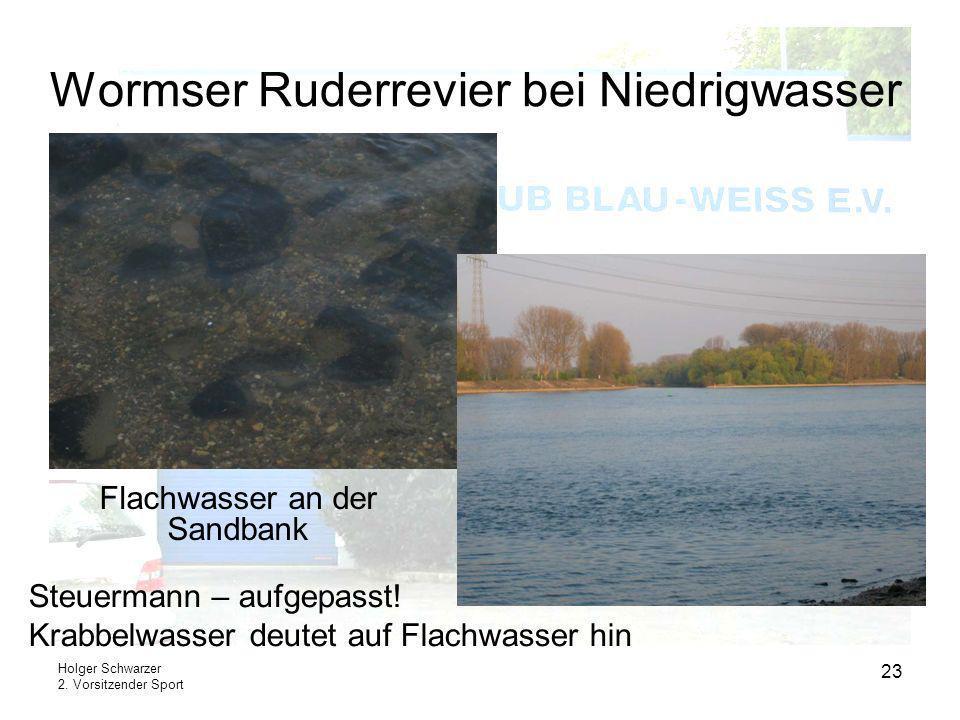Wormser Ruderrevier bei Niedrigwasser