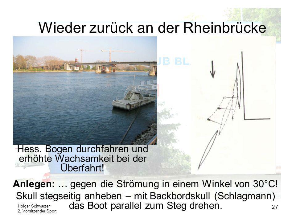 Wieder zurück an der Rheinbrücke