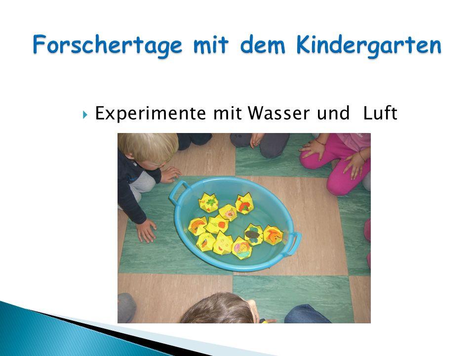 projekt zum thema wasser im kindergarten