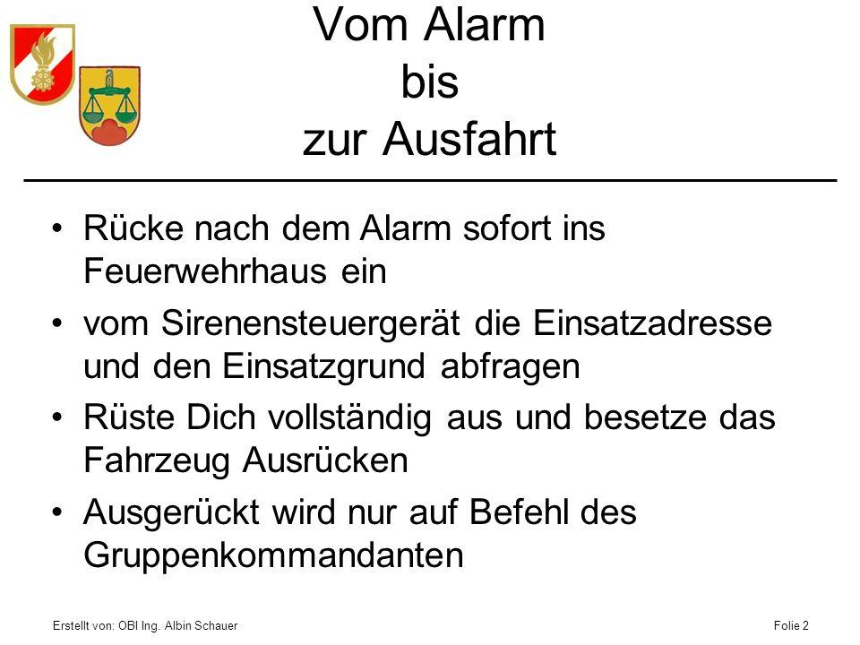 Vom Alarm bis zur Ausfahrt