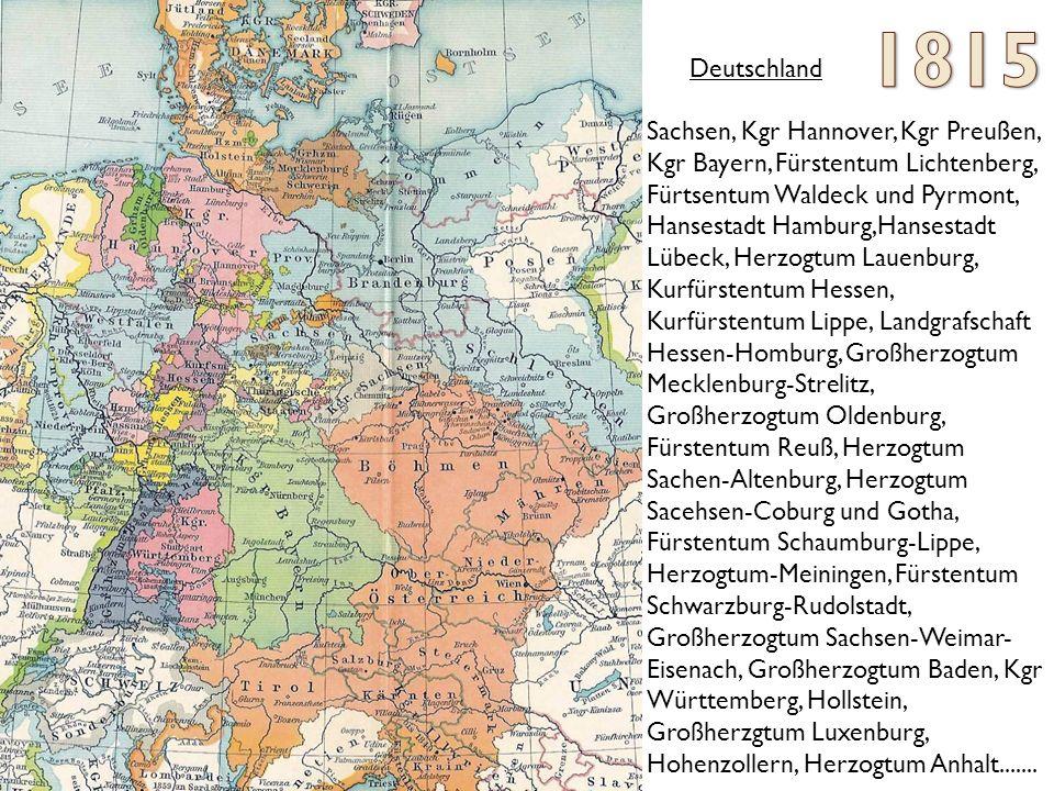 1815 Deutschland Sachsen, Kgr Hannover, Kgr Preußen,