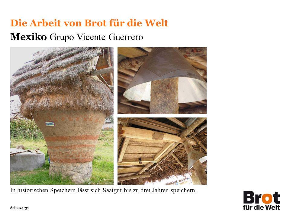 Die Arbeit von Brot für die Welt Mexiko Grupo Vicente Guerrero