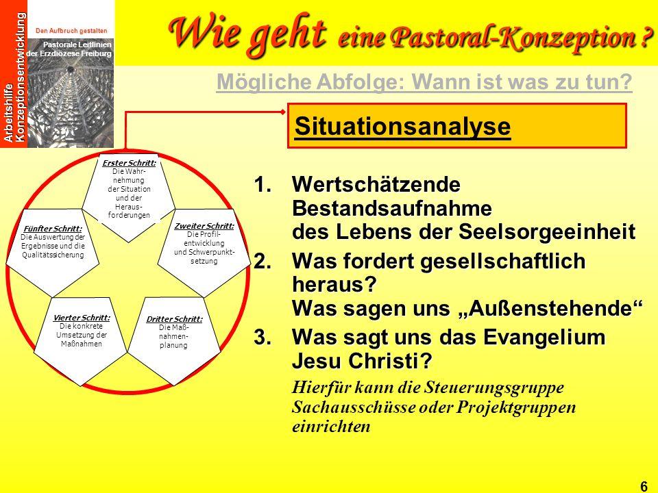 Wie geht eine Pastoral-Konzeption