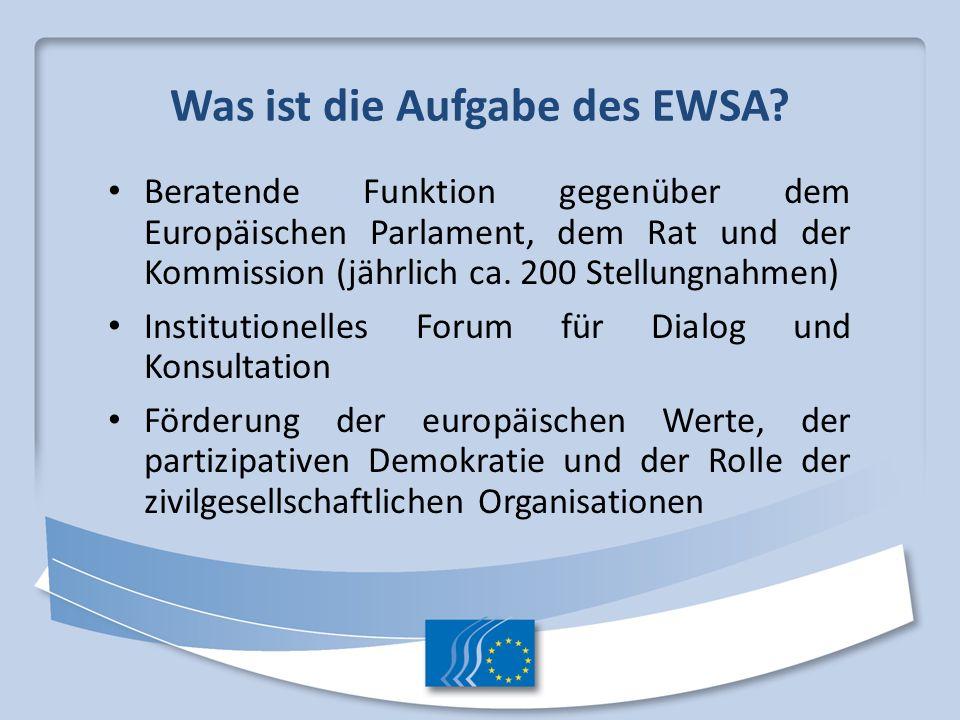 Was ist die Aufgabe des EWSA