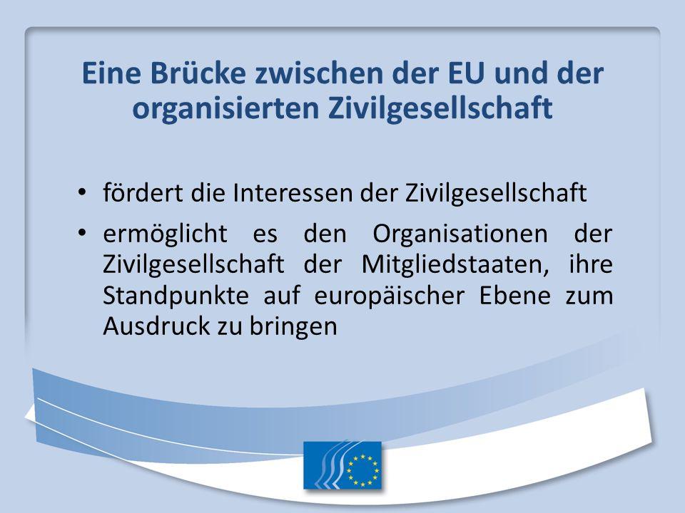 Eine Brücke zwischen der EU und der organisierten Zivilgesellschaft