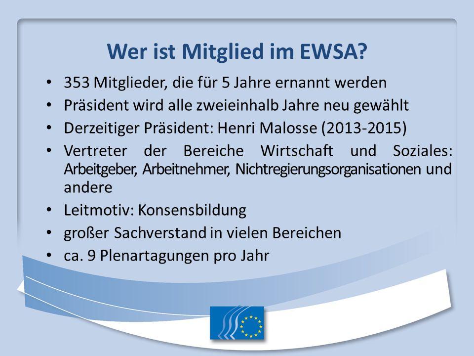 Wer ist Mitglied im EWSA