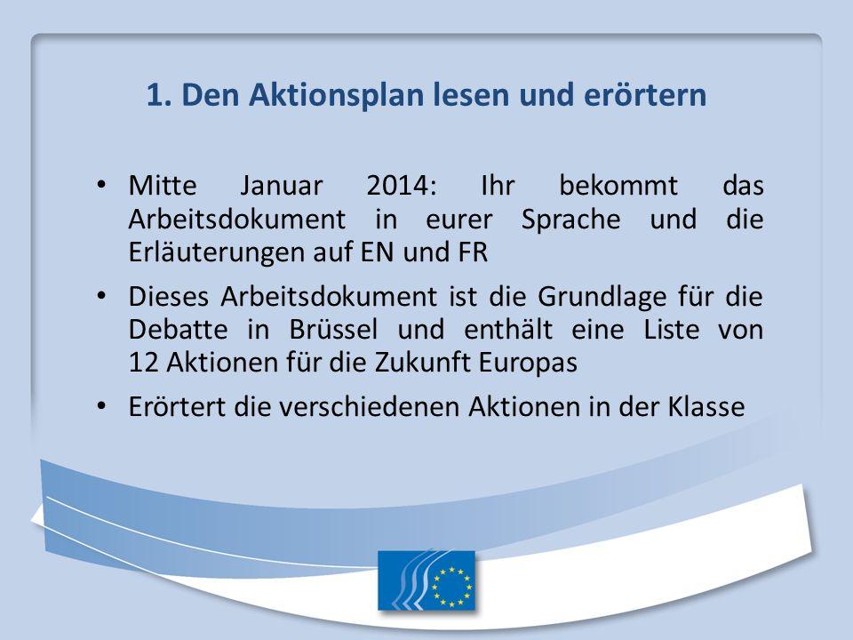 1. Den Aktionsplan lesen und erörtern
