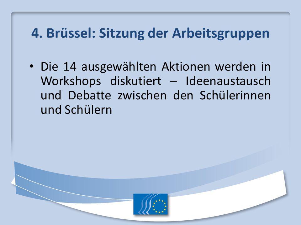4. Brüssel: Sitzung der Arbeitsgruppen