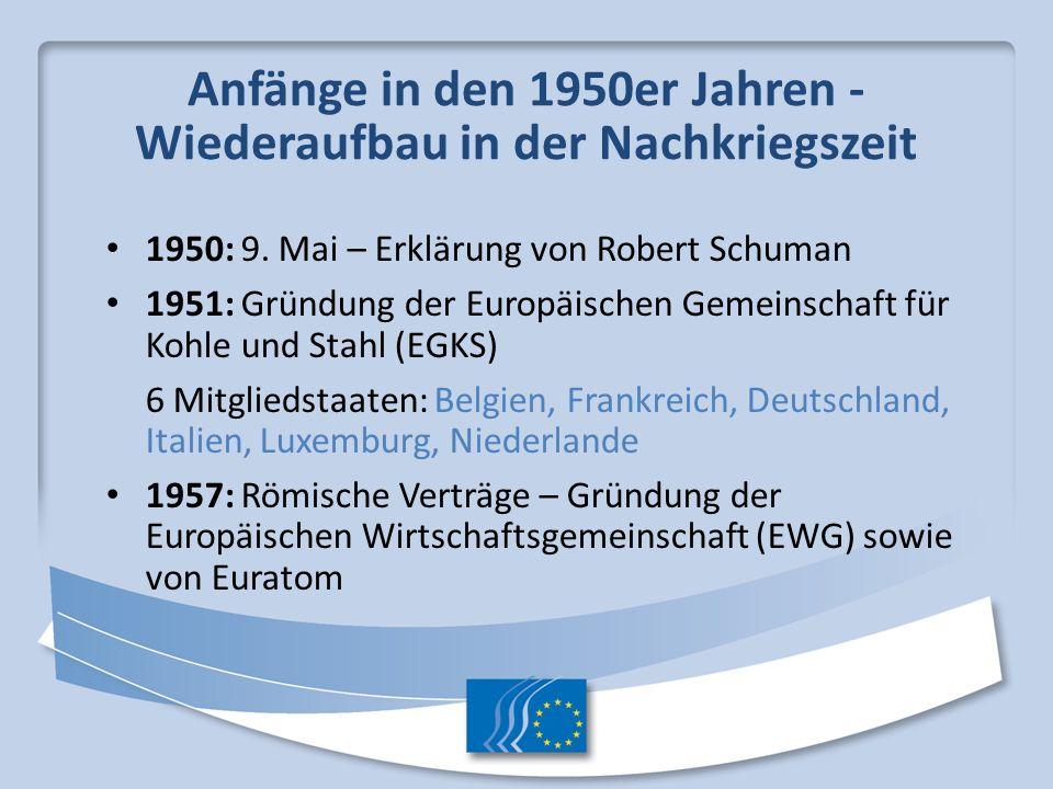 Anfänge in den 1950er Jahren - Wiederaufbau in der Nachkriegszeit