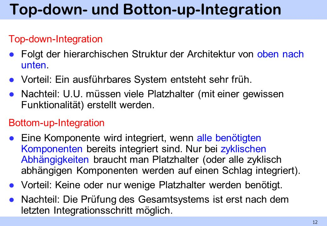 Top-down- und Botton-up-Integration