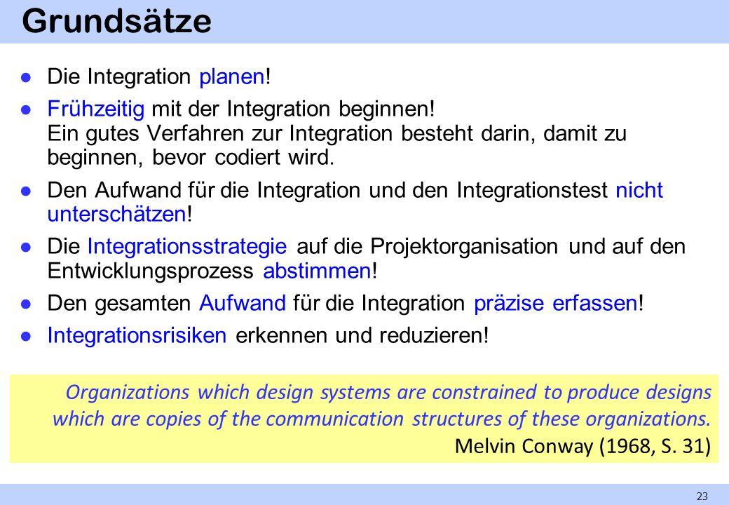 Grundsätze Die Integration planen!