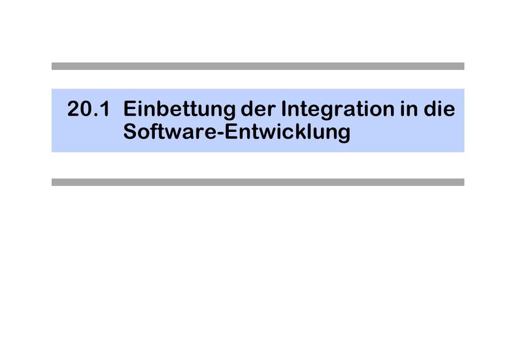 20.1 Einbettung der Integration in die Software-Entwicklung