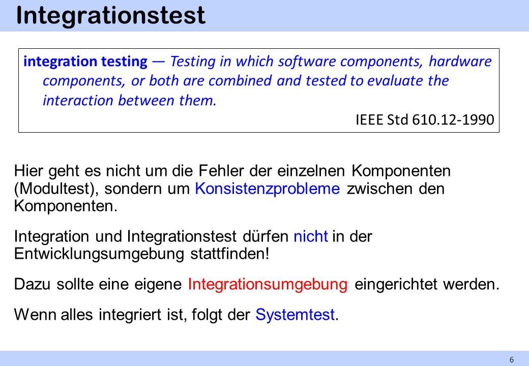 Integrationstest